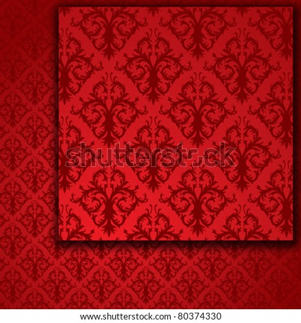 Red Seamless Pattern (wallpaper) - stock vector