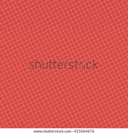 Red seamless vector leather texture background pattern - stock vector