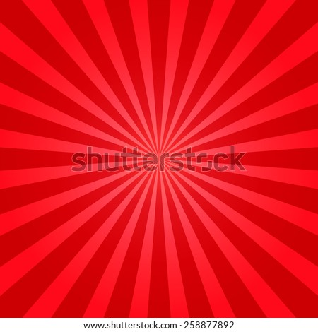 Red shiny starburst background. Sunburst abstract twister texture.Vector illustration. - stock vector