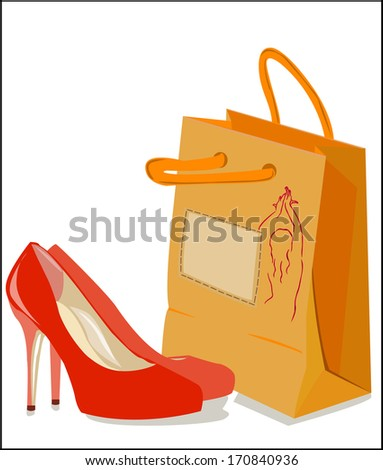 red shoes with orange bag