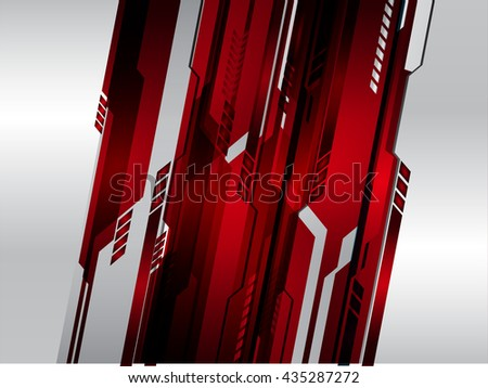 red silver abstract light hi speed internet technology background illustration, Background conceptual image of digital. Cyber security concept, Cyber data digital. scan virus computer. motion speed - stock vector