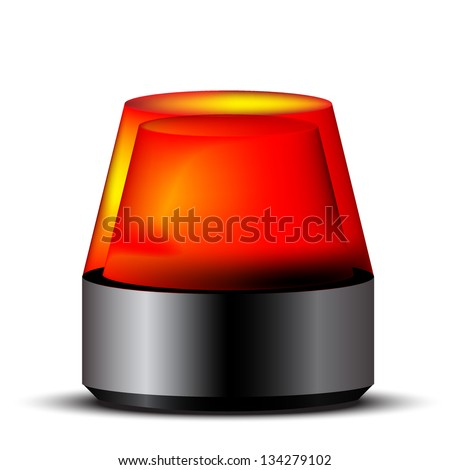 Red siren - stock vector