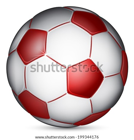 red soccer ball, vector
