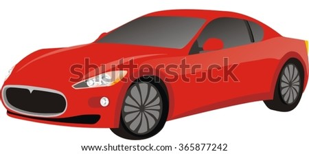 Red speed car