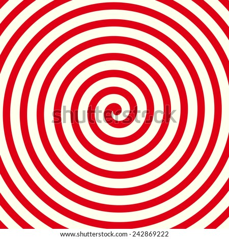 Red spiral background, shape - stock vector