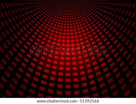 Red squared techno floor - stock vector
