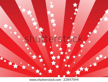 red star bursts - stock vector