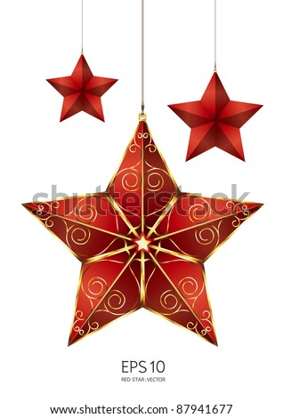 red star vector - stock vector