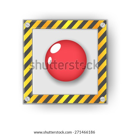 Red start button. vector illustration - stock vector