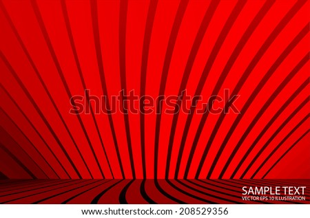 Red striped  vector background illustration - Vector red   empty space   design template