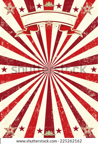 Red sunbeams poster. A vintage background with red sunbeams and a texture. Ideal poster for your show - stock vector