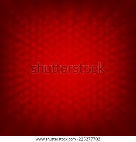 Red Sunburst Banner With Gradient Mesh, Vector Illustration - stock vector