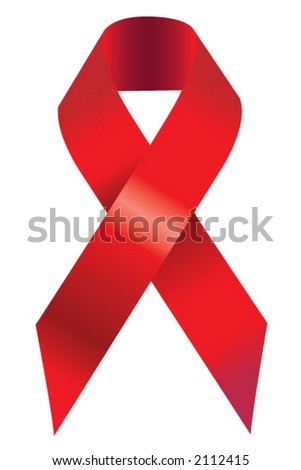 Red Support Ribbon - stock vector