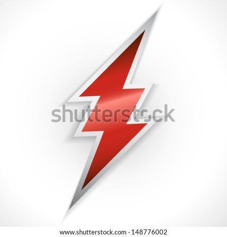 Red thunder - stock vector