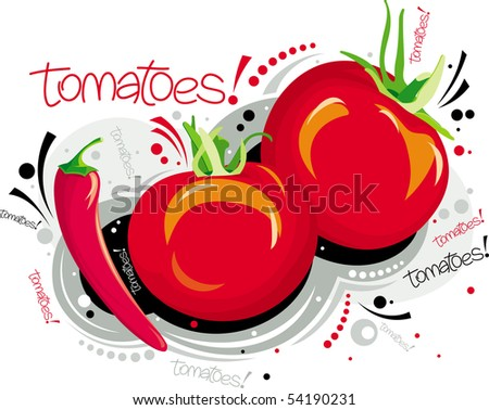 Red tomatoes - stock vector