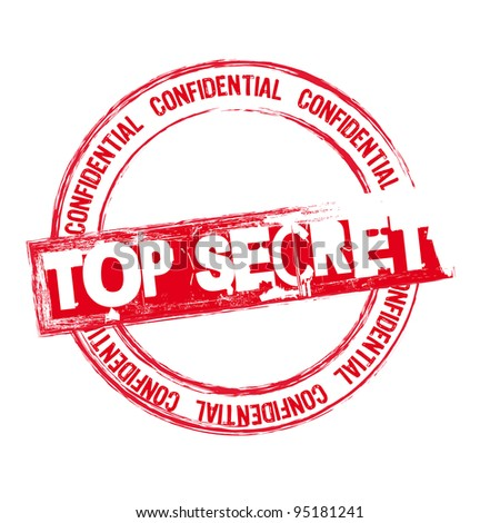 red top secret stamp isolated over white background. vector - stock vector