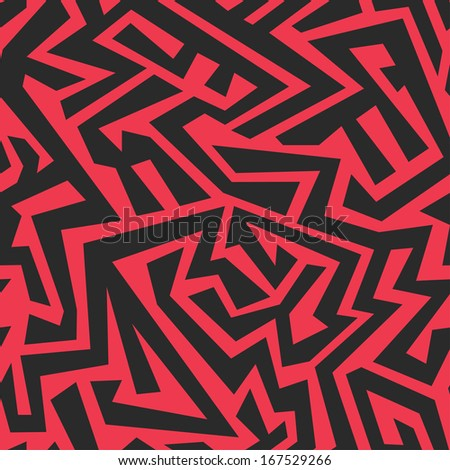 red tribal seamless pattern - stock vector