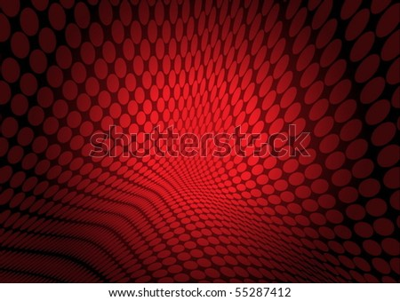 Red vector doted background illustration - stock vector