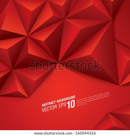 Red vector geometric background. Can be used in cover design, book design, website background, CD cover, advertising. - stock vector