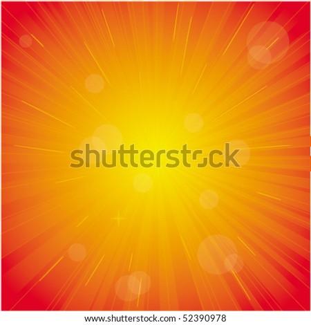 Red vector light burst - stock vector