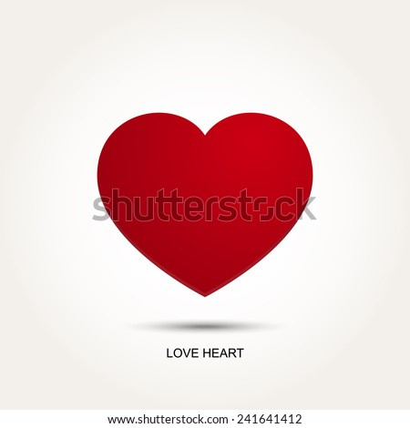 Red Vector Love Heart - stock vector