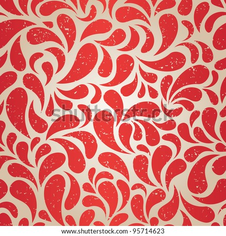Red vintage seamless wallpaper for Christmas design. EPS8 vector illustration. - stock vector
