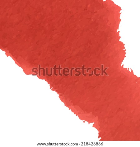 Red watercolour flow background design. Illustration made in vector.