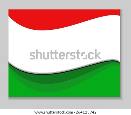 Red white green abstract wavy background - stock vector