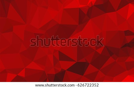 Red White Polygonal Mosaic Background, Vector illustration, Creative Business Design Templates