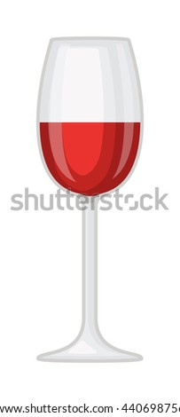 Red wine in a glass isolated on white background and glass of wine vector drink. Glass of red wine and glass of wine alcohol beverage celebration grape merlot. Gourmet restaurant party alcohol liquor. - stock vector