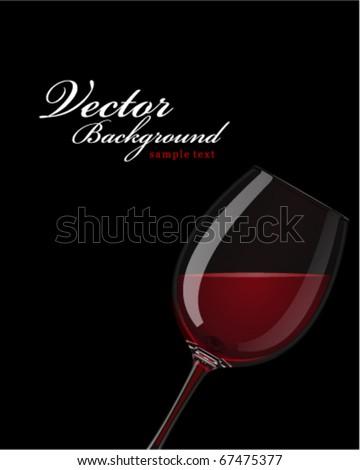 Red wine vector background - stock vector