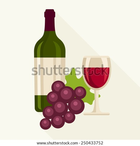 Red wine vector illustration - stock vector