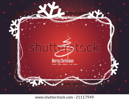 Red winter banner - stock vector