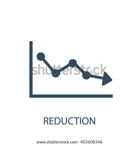 reduction icon  - stock vector