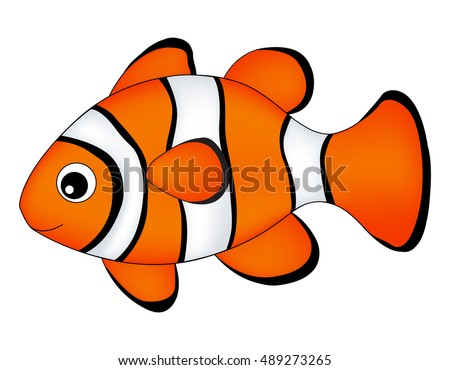 reef fish clown fish fish isolated stock vector 489273265 shutterstock rh shutterstock com
