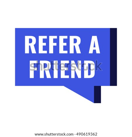 Refer a friend. Flat vector illustration on white background. Can be used business company.