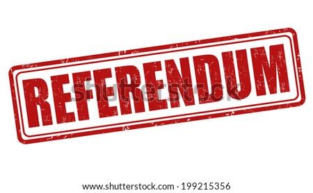 Referendum grunge rubber stamp on white, vector illustration - stock vector