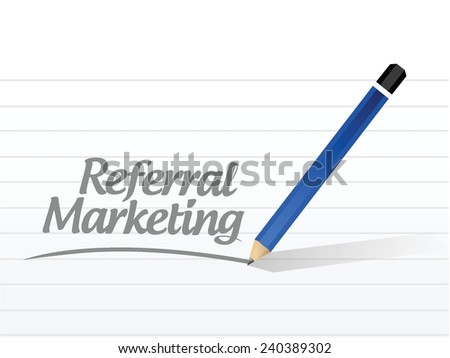 referral marketing message illustration design over a white background - stock vector