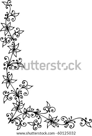 Refined Floral vignette CDI - stock vector