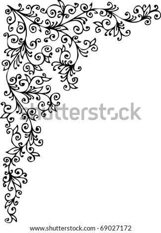 Refined Floral vignette 336 Eau-forte decorative background texture vector illustration EPS-8 - stock vector