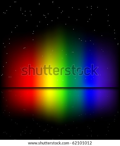 Reflected rainbow lights background (eps10 vector) - stock vector