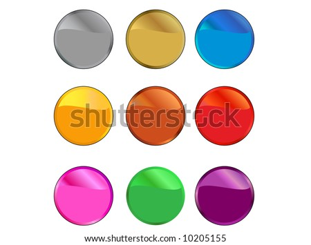 Reflective Buttons - stock vector