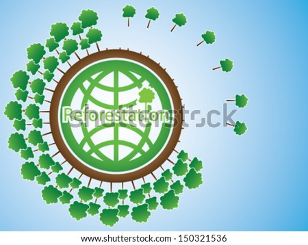 Reforestation - stock vector