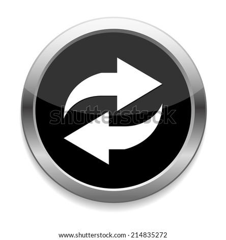 refresh  icon - stock vector