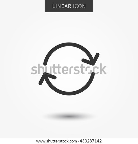 Refresh icon vector illustration. Isolated sync line symbol. Sync icon concept. Refresh symbol line concept. Rotation element. Recycling sign graphic design. - stock vector