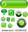 Refresh vector glossy icons. - stock photo
