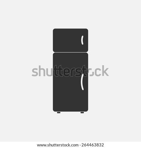 refrigerator icon  - stock vector