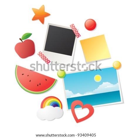 Refrigerator magnets - stock vector