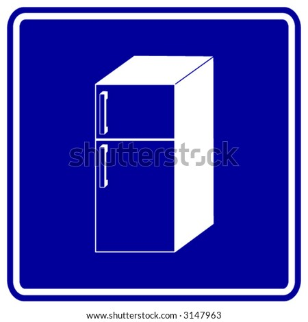 refrigerator sign - stock vector