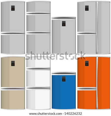 refrigerator vector illustration isolated several elements eps 10 / refrigerators vector / ml1413